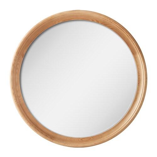 Stabekk spiegel hellbraun ikea for Ikea miroir rond