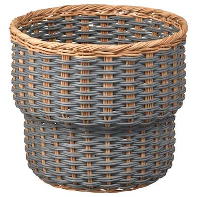 STENBÄR Übertopf, grau, 24 cm