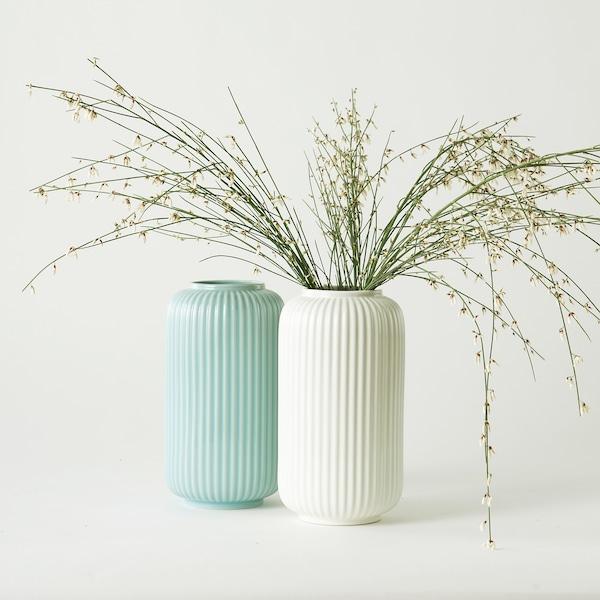 STILREN Vase, weiß, 22 cm
