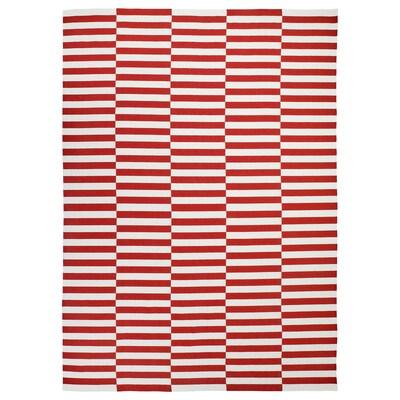 STOCKHOLM 2017 Teppich flach gewebt, Handarbeit/gestreift rot, 250x350 cm