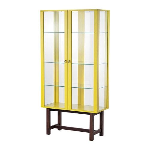 stockholm schrank mit glast ren gelb ikea. Black Bedroom Furniture Sets. Home Design Ideas