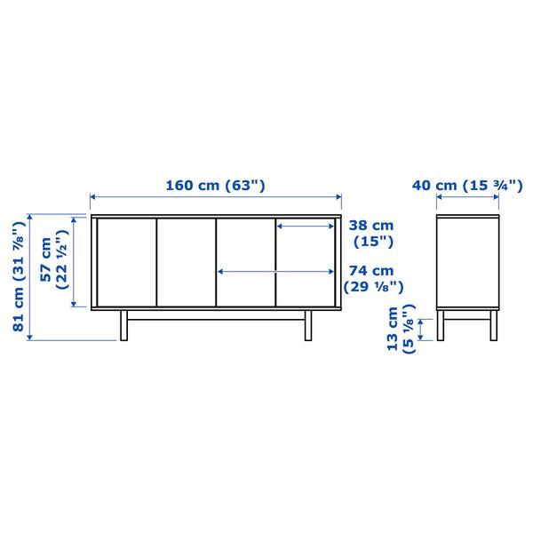 STOCKHOLM Sideboard, Nussbaumfurnier, 160x81 cm