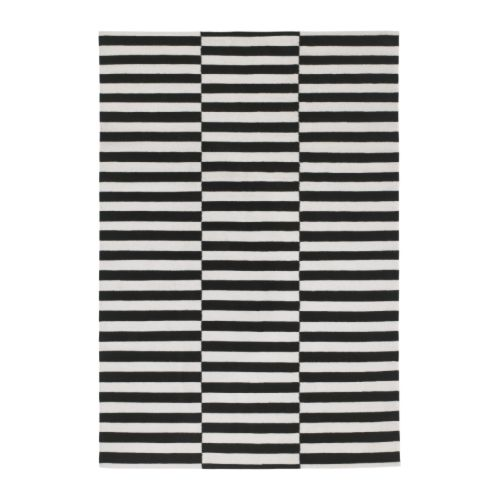 stockholm teppich flach gewebt 170x240 cm gestreift. Black Bedroom Furniture Sets. Home Design Ideas