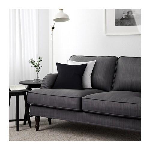 stocksund 3er sofa nolhaga dunkelgrau schwarz ikea. Black Bedroom Furniture Sets. Home Design Ideas