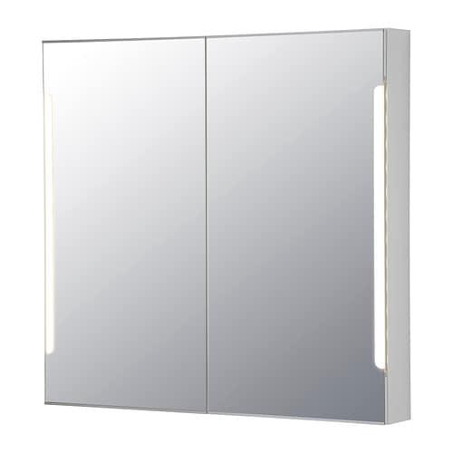 STORJORM Spiegelschrank m. 2 Türen+int. Bel.   IKEA
