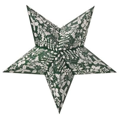 STRÅLA Leuchtenschirm, Blatt/grün, 48 cm