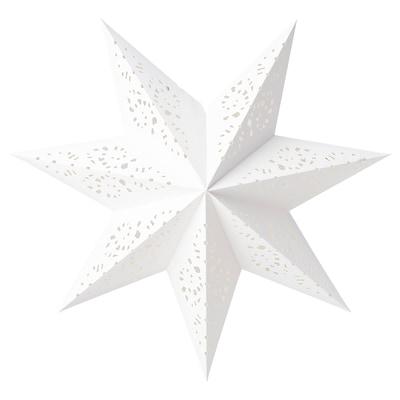 Details zu IKEA STRALA Leuchtenschirm,Spitze weiß,70cm,Lampenschirm Stern Spitzenmuster NEU