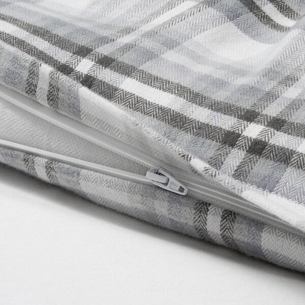 STRIMKLÖVER Bettwäscheset, 2-teilig, grau Karo, 150x200/50x60 cm