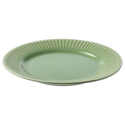 STRIMMIG Dessertteller Steinzeug/grün 21 cm