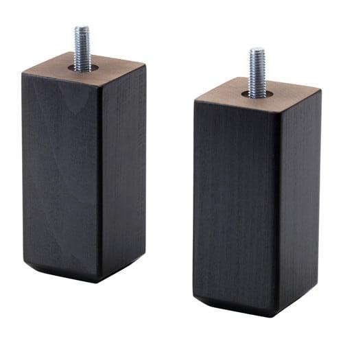 Ikea Füße stubbarp bein schwarzbraun ikea