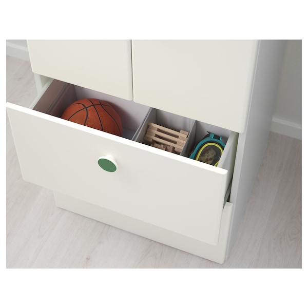 STUVA / FÖLJA Aufbewkomb.+Türen/Schubladen weiß 60 cm 50 cm 128 cm