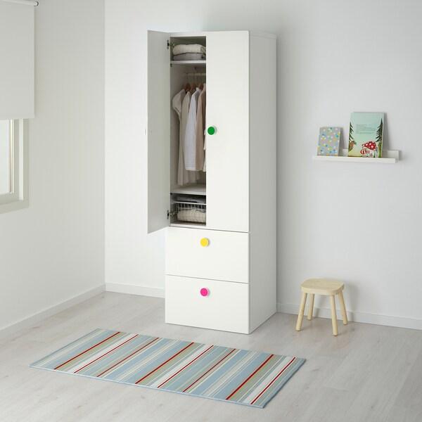 STUVA / FÖLJA Kleiderschrank m 2 Türen+2Schubl. weiß 60 cm 50 cm 192 cm