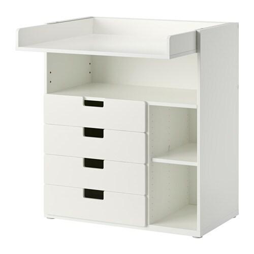 stuva wickeltisch mit 4 schubladen wei ikea. Black Bedroom Furniture Sets. Home Design Ideas