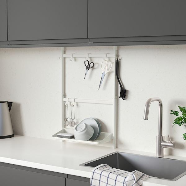 SUNNERSTA Aufbewahrungs-Set Küche, ohne Bohren/Abtropfgestell/Haken