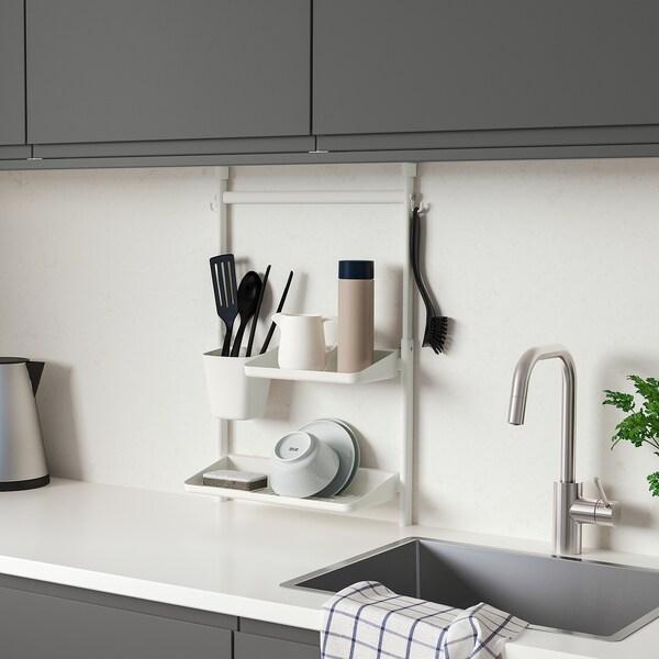 SUNNERSTA Aufbewahrungs-Set Küche, ohne Bohren/Bod/Abtrgest/Behälter