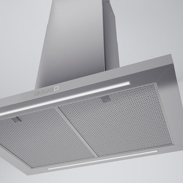 SVÄVANDE Dunstabzugshaube f Deckenmontage, Edelstahl, 90 cm