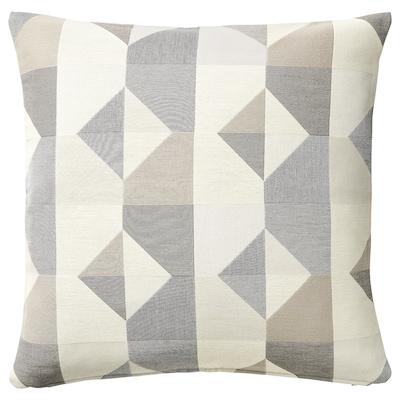 SVARTHÖ Kissenbezug, grau/beige, 50x50 cm