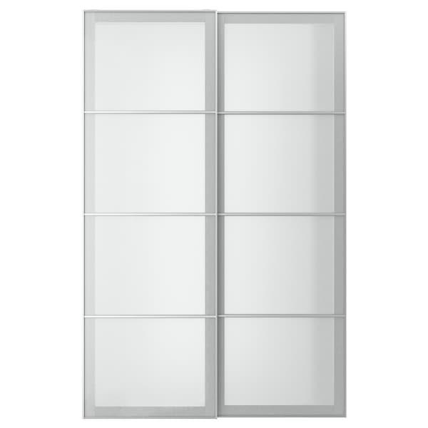 SVARTISDAL Schiebetürpaar, weiß Papiereffekt, 150x236 cm