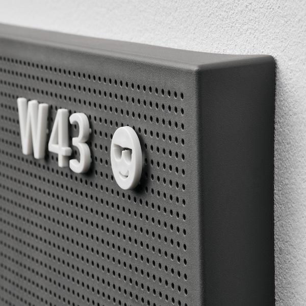 SVENSÅS Lochplatte mit Buchstaben, dunkelgrau, 30x40 cm