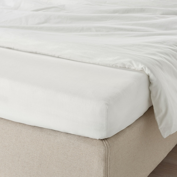 TAGGVALLMO Spannbettlaken, weiß, 90x200 cm