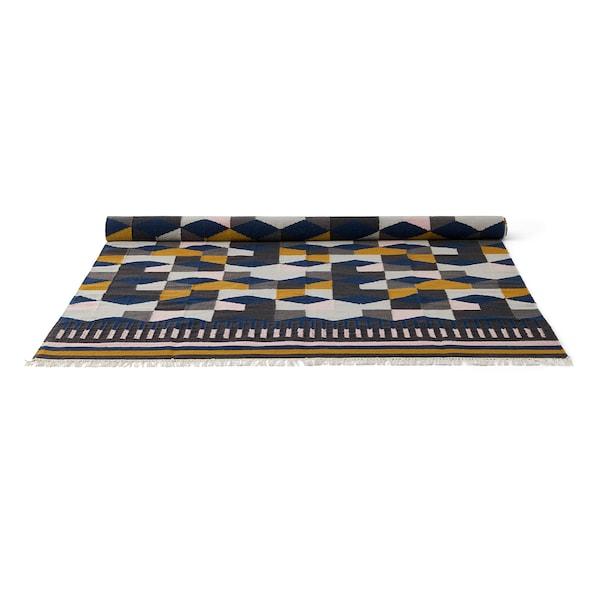TÅRBÄK Teppich flach gewebt Handarbeit/bunt 240 cm 170 cm 4 mm 4.08 m² 1400 g/m²
