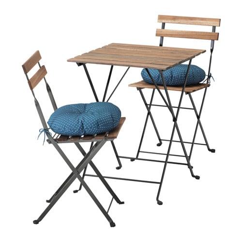 Bistrotisch Mit Stühlen tärnö tisch 2 stühle außen tärnö schwarz graubraun lasiert ikea