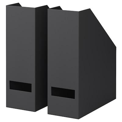 TJENA Zeitschriftensammler schwarz 10 cm 25 cm 30 cm 2 Stück