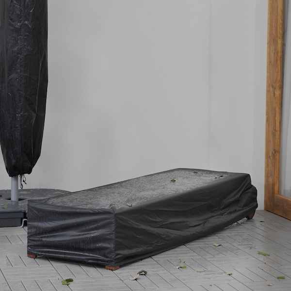 TOSTERÖ Abdeckung für Sonnenliege, schwarz, 200x60 cm