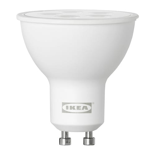 tr dfri led lampe gu10 400 lm ikea. Black Bedroom Furniture Sets. Home Design Ideas