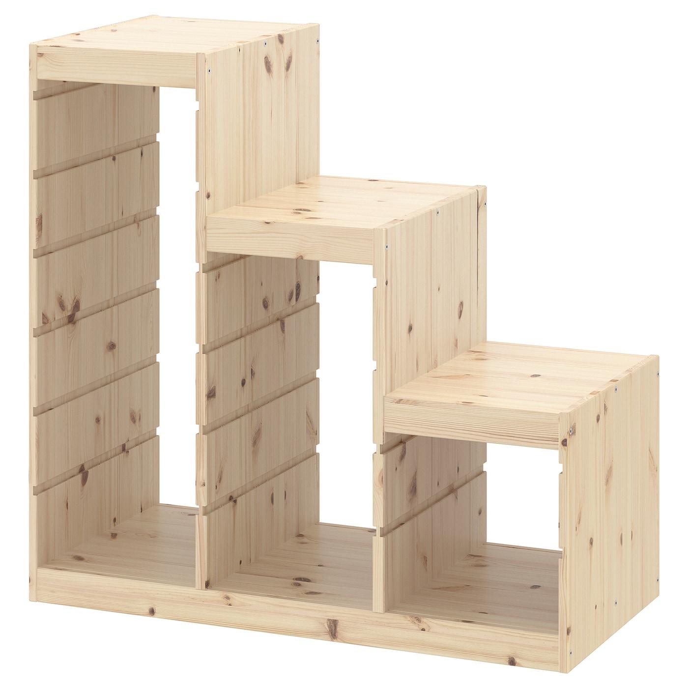 Trofast Regalrahmen Kiefer Weiss Gebeizt Hell Kiefer Ikea