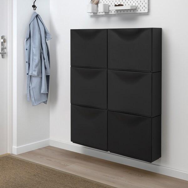 TRONES Aufbewahrung, schwarz, 52x18x39 cm