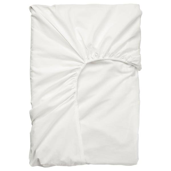 ULLVIDE Spannbettlaken f Matratzenauflage, weiß, 180x200 cm