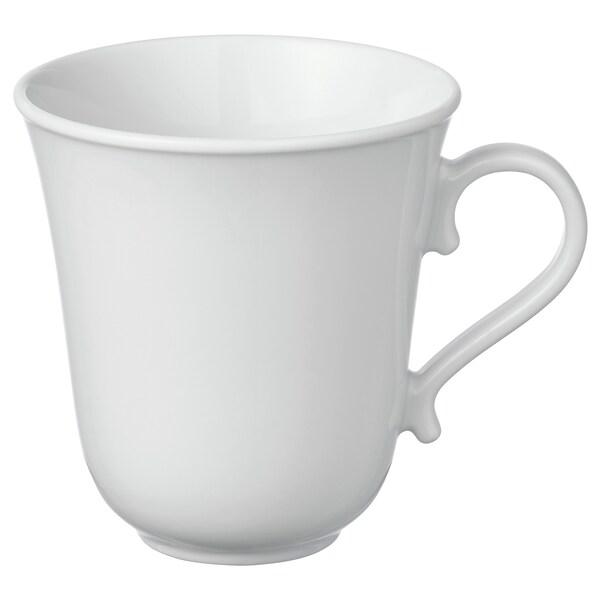 UPPLAGA Becher, weiß, 35 cl