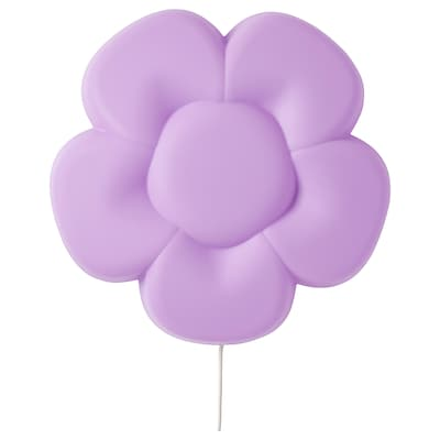 UPPLYST Wandleuchte, LED, Blume lila