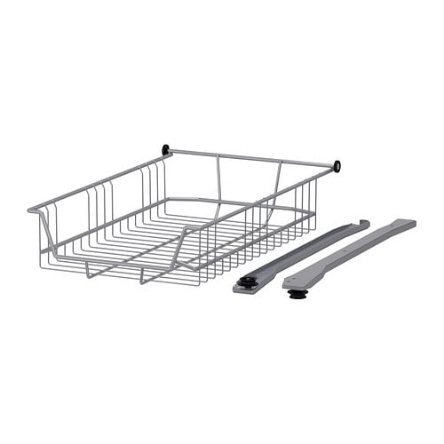 Ikea Jugendbett Zum Ausziehen ~ UTRUSTA Drahtkorb > Leicht laufende Drahtkörbe mit Auszugstopp Die