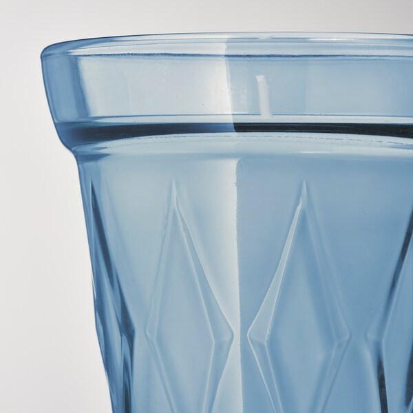 VÄLDOFT Duftkerze im Glas, frisch gewaschen/hellblau, 8 cm