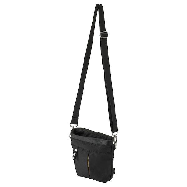 VÄRLDENS Kuriertasche, schwarz, 17x5x20 cm/2 l