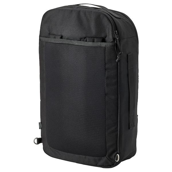 VÄRLDENS Reiserucksack, schwarz, 33x17x55 cm/36 l