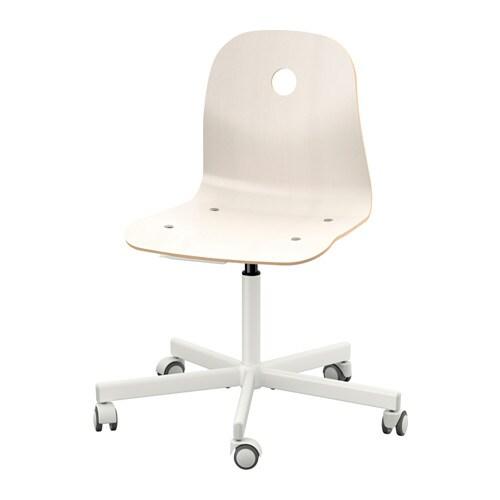Schreibtischstuhl holz ikea  VÅGSBERG / SPORREN Drehstuhl - weiß - IKEA