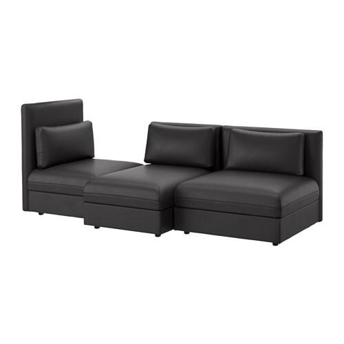 VALLENTUNA 3er Sofa, Murum Schwarz