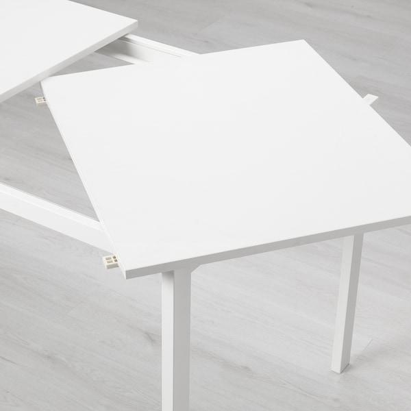VANGSTA Ausziehtisch, weiß, 120/180x75 cm