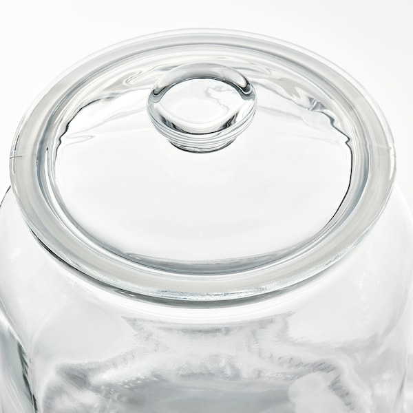 VARDAGEN Dose mit Deckel, Klarglas, 1.9 l