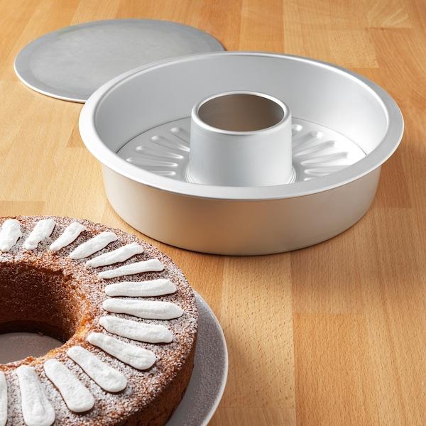 VARDAGEN Kuchenform mit Wechselboden, silberfarben
