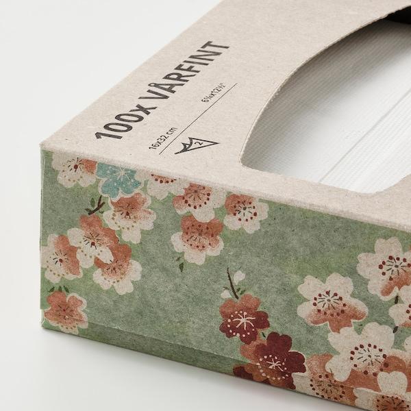 VÅRFINT Papierserviette, weiß, 16x32 cm