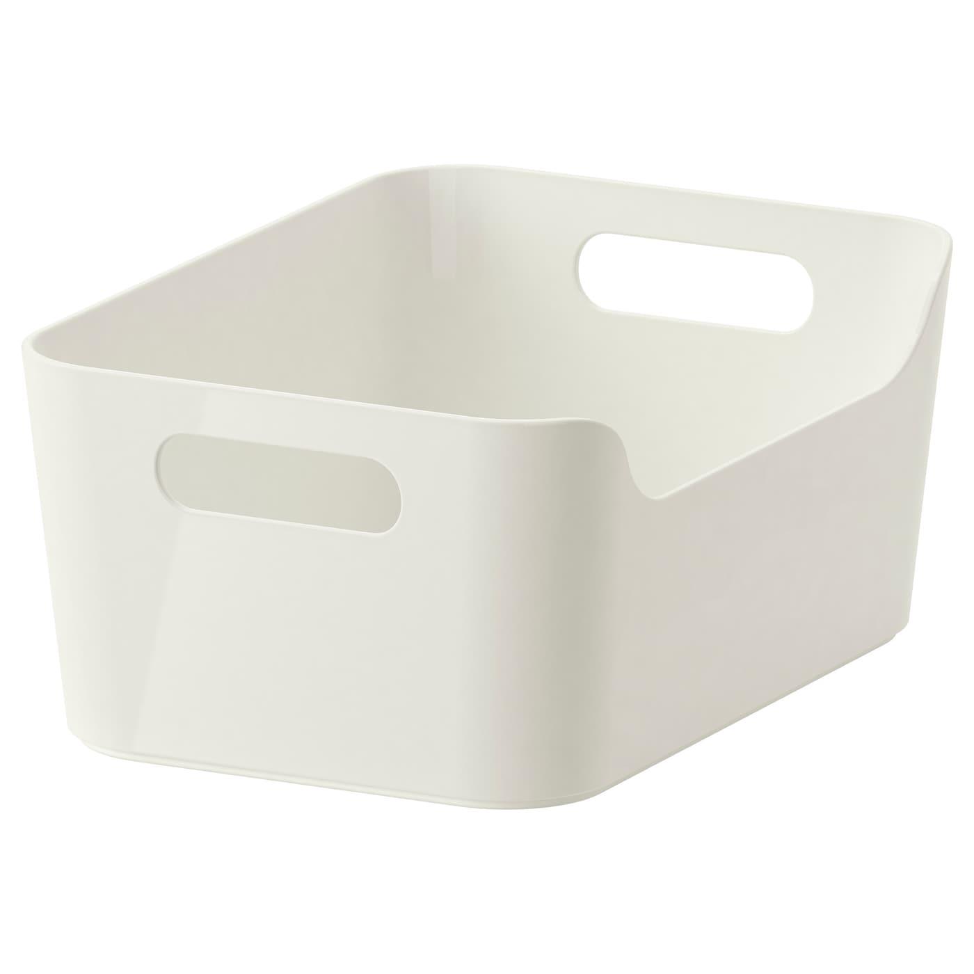 VARIERA Box - Hochglanz weiß 16x16 cm