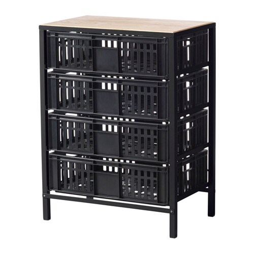 v ssad aufbewahrung mit 4 schubladen ikea. Black Bedroom Furniture Sets. Home Design Ideas