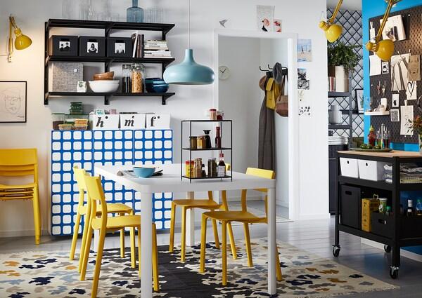 VIDEBÄK Teppich flach gewebt - Handarbeit/bunt - IKEA ...