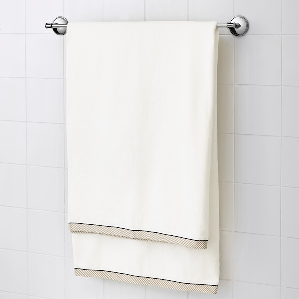 VIKFJÄRD Badelaken, weiß, 100x150 cm