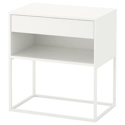 VIKHAMMER Ablagetisch, weiß, 60x39 cm