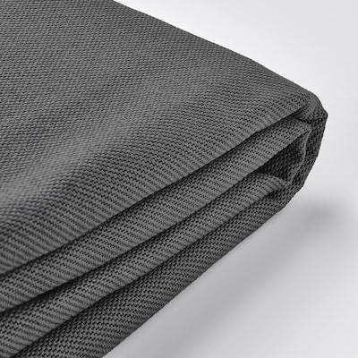VIMLE Bezug 3er-Sofa+Récamiere, mit Nackenkissen/Hallarp grau